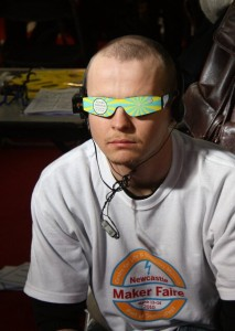 Self Hypnosis Glasses at the Maker Faire UK 2010