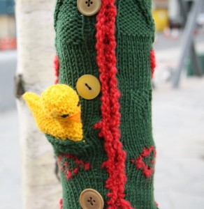 Guerilla Knitting in Newcastle