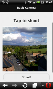 Android camera live view in a webpage getUserMedia