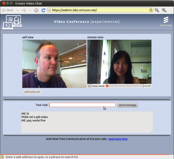 Web chat cam